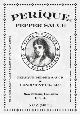 Perique Pepper Sauce Grey Scale Logo