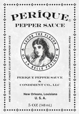 Perique Pepper Sauce Grey Scale Logo