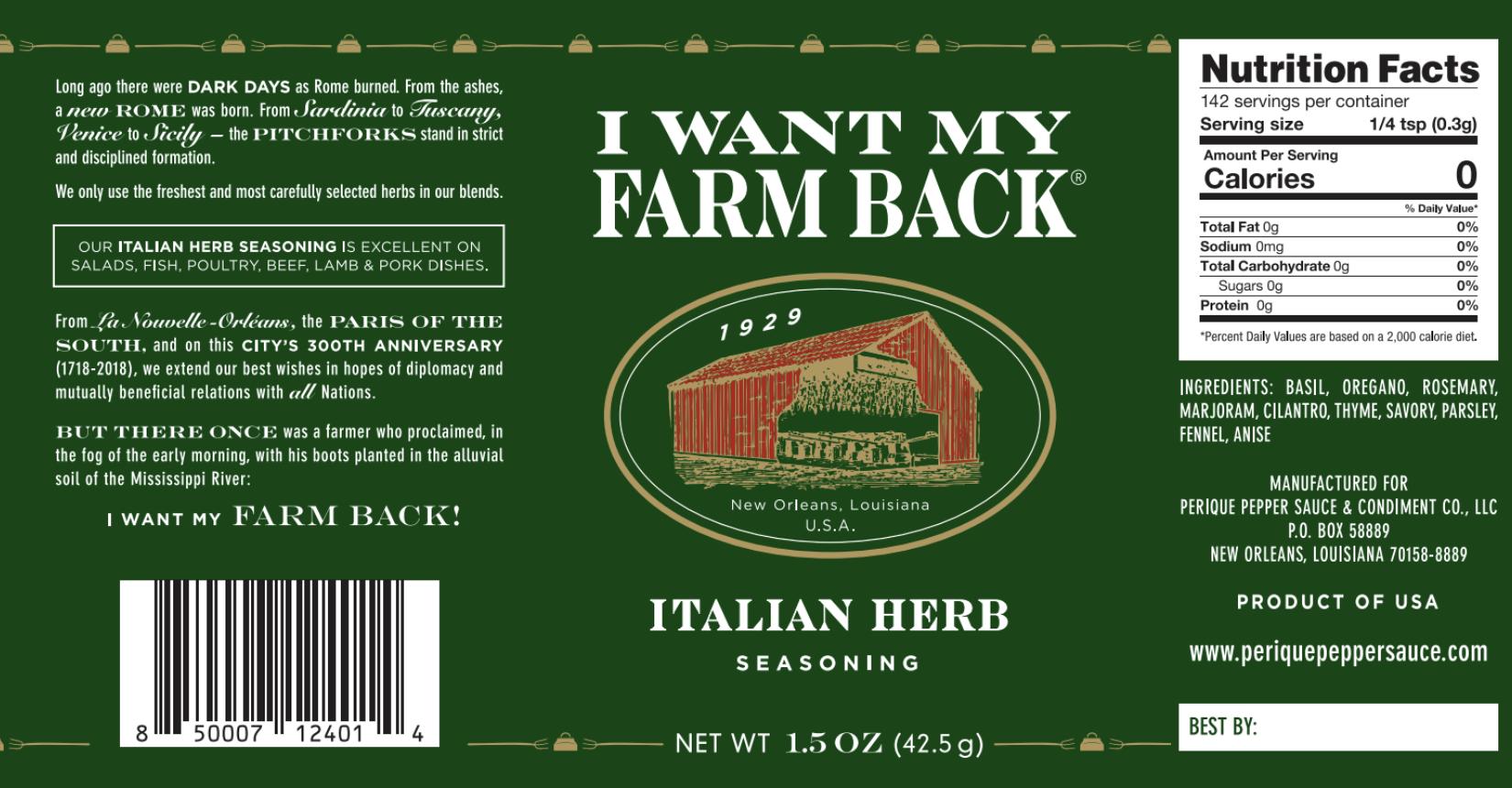 IWMFB 800x400 Italian Herb